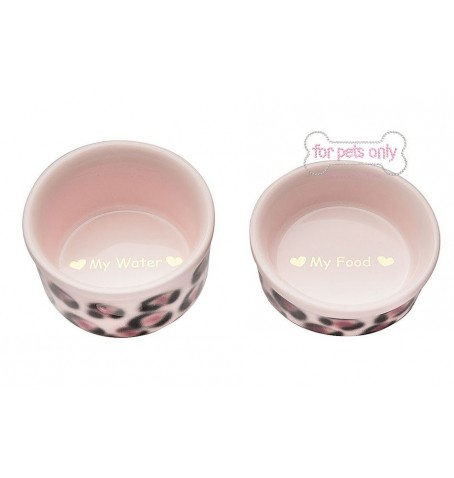 Teacup Bowl Set Leopard Pink