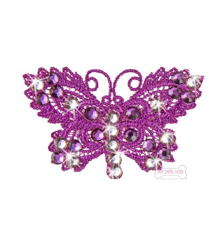Fuxia Butterfly Hairclip