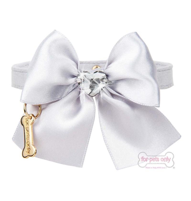 Heart Bow Grey Collar