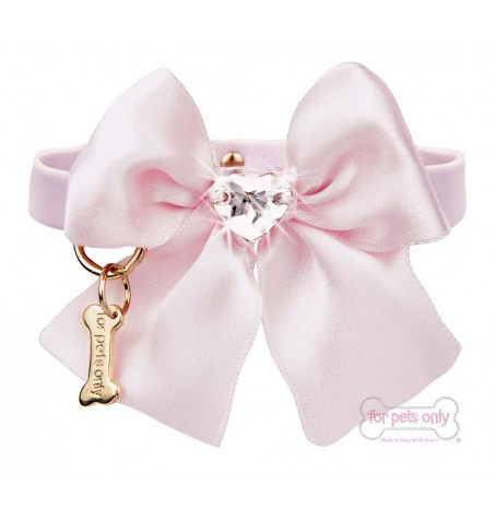 Heart Bow Pink Collar
