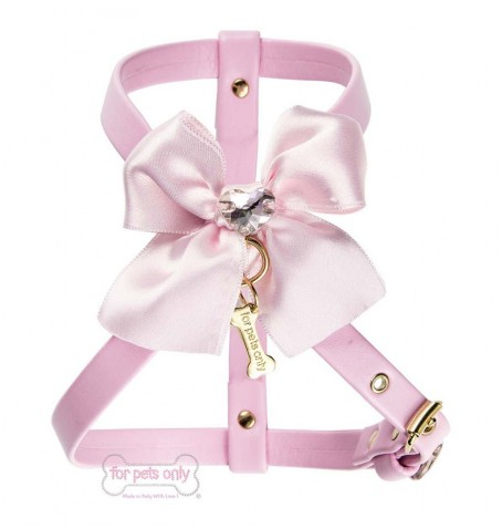 Heart bow Harness Pink