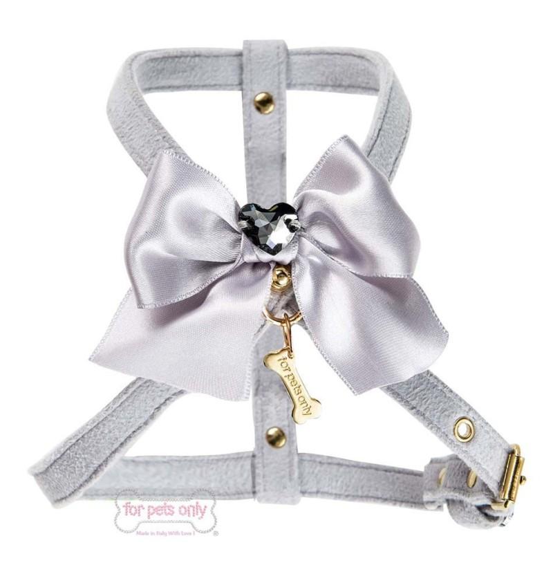 Heart bow Harness Grey