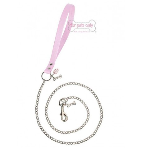 Chain Lead Pink/Silver