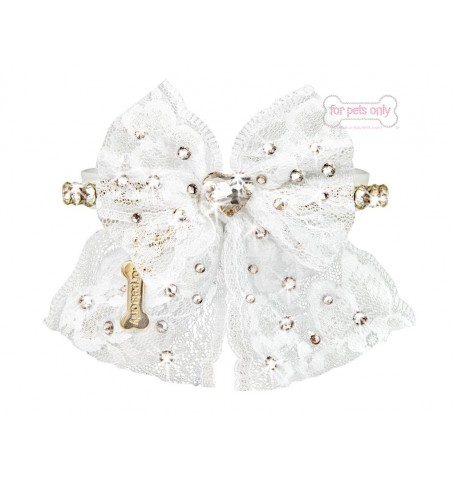 Sparkling Bow White Collar