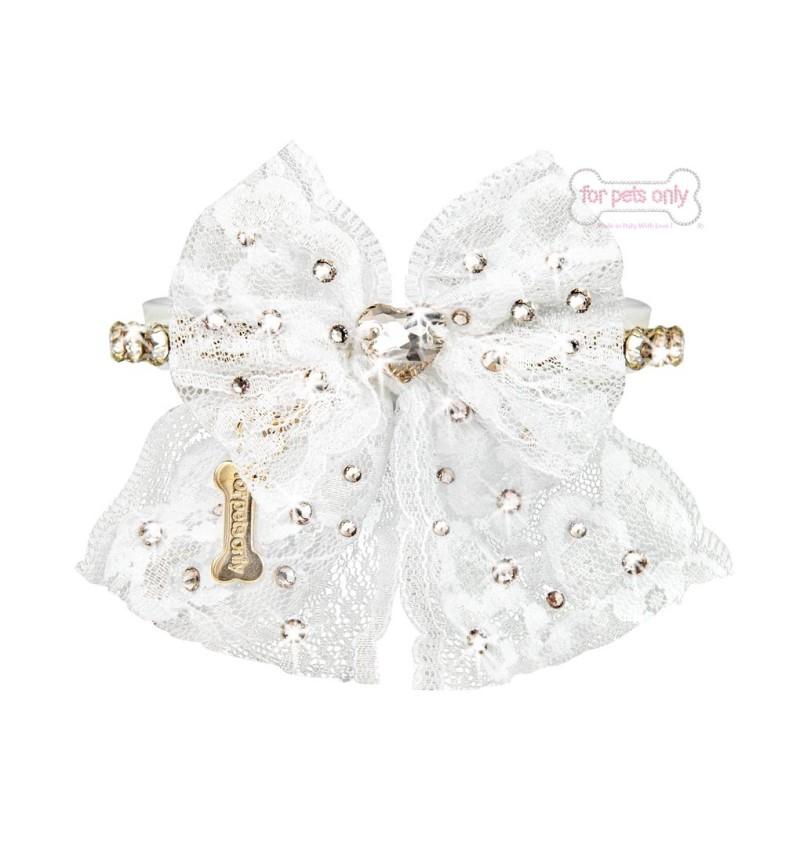 Sparkling Bow White Collar