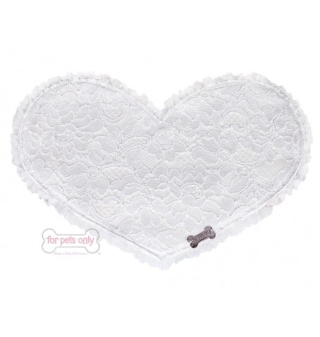LOVELY LUNCH TIME WHITE LACE AND ECOLEATHER