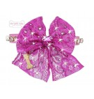 SPARKLING BOW FUXIA ECOPATENT COLLAR
