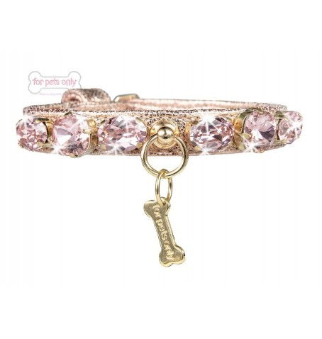 MIRACLE COLLAR ROSE GOLD ECOLEATHER