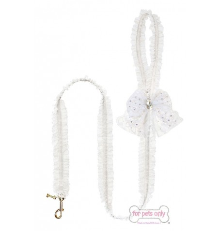 Lingerie Leash White/Gold