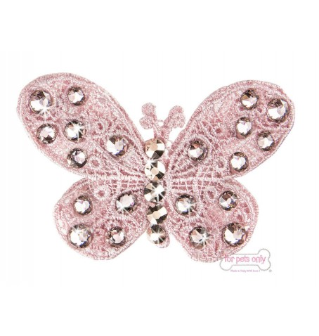 Pink Butterfly Hairclip
