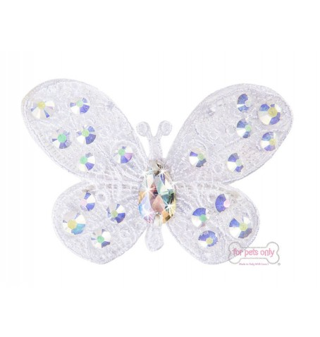 White Butterfly Hairclip