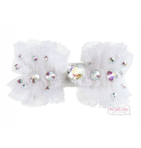 Bow Tulle Hairclip White