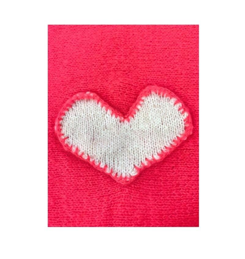 Mohair Heart Cover Fuxia