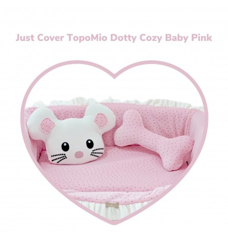 Just Cover TopoMio Dotty Sofa Baby Pink